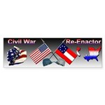 Civil War Reenactor Bumper Sticker