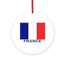 France Flag Merchandise Ornament (Round)