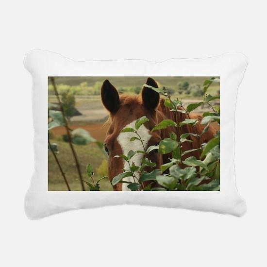 Peek-a-boo horse Rectangular Canvas Pillow