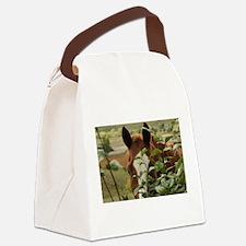 Peek-a-boo horse Canvas Lunch Bag