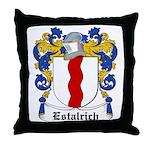 Estalrich Coat of Arms Throw Pillow