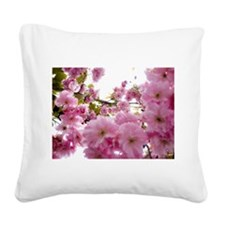 Spring time Cherry Blossoms Square Canvas Pillow