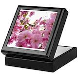 Cherry blossom Square Keepsake Boxes