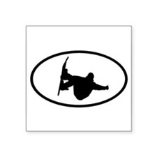 Snowboarding Oval Sticker