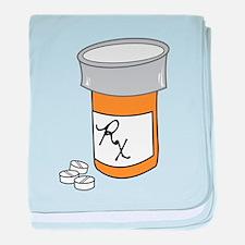 Pill Bottle baby blanket