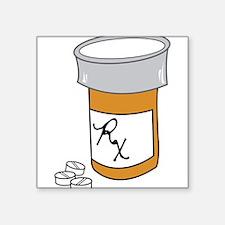 "Pill Bottle Square Sticker 3"" x 3"""