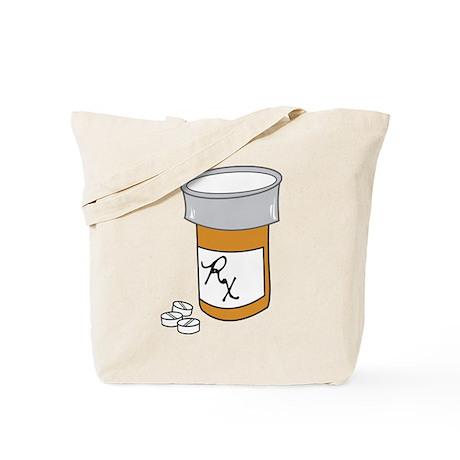 Pill Bottle Tote Bag