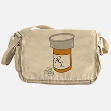 Pill Bottle Messenger Bag