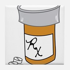 Pill Bottle Tile Coaster