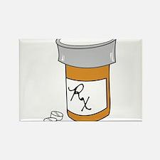 Pill Bottle Rectangle Magnet