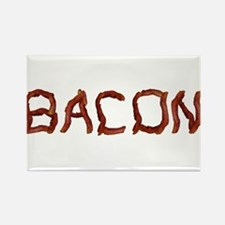 bacon spelled with bacon Rectangle Magnet