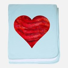 I'm bacon hearted baby blanket