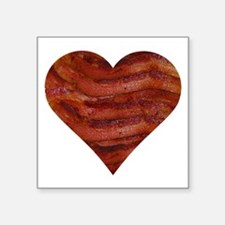 "I'm bacon hearted Square Sticker 3"" x 3"""