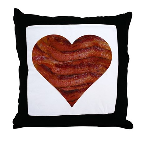 I'm bacon hearted Throw Pillow