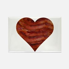 I'm bacon hearted Rectangle Magnet