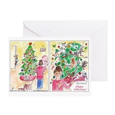 'Cat Lady Rules' Comics Happy Holidays! Card