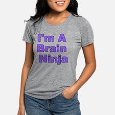 Funny Brain ninja Womens Tri-blend T-Shirt