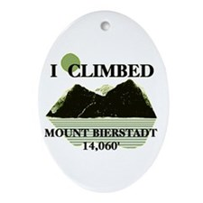 Cute Climb Ornament (Oval)