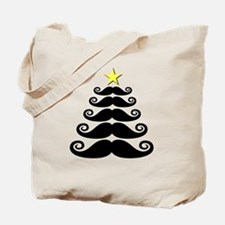 Stache-mas Tree Tote Bag