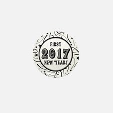 First New Years 2017 Milestone Mini Button