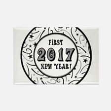 First New Years 2017 Milestone Rectangle Magnet