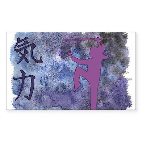 Spirit Sword Purple Rectangle Sticker