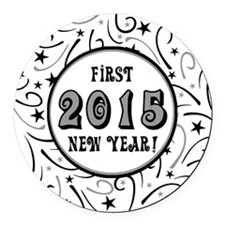 First New Years 2015 Milestone Round Car Magnet