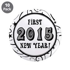 """First New Years 2015 Milestone 3.5"""" Button (10 pac"""