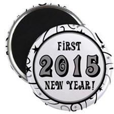 "First New Years 2015 Milestone 2.25"" Magnet (10 pa"