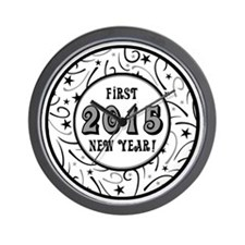 First New Years 2015 Milestone Wall Clock