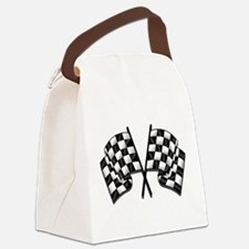 Chequered Flags Canvas Lunch Bag