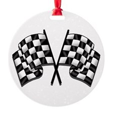 Chequered Flags Ornament