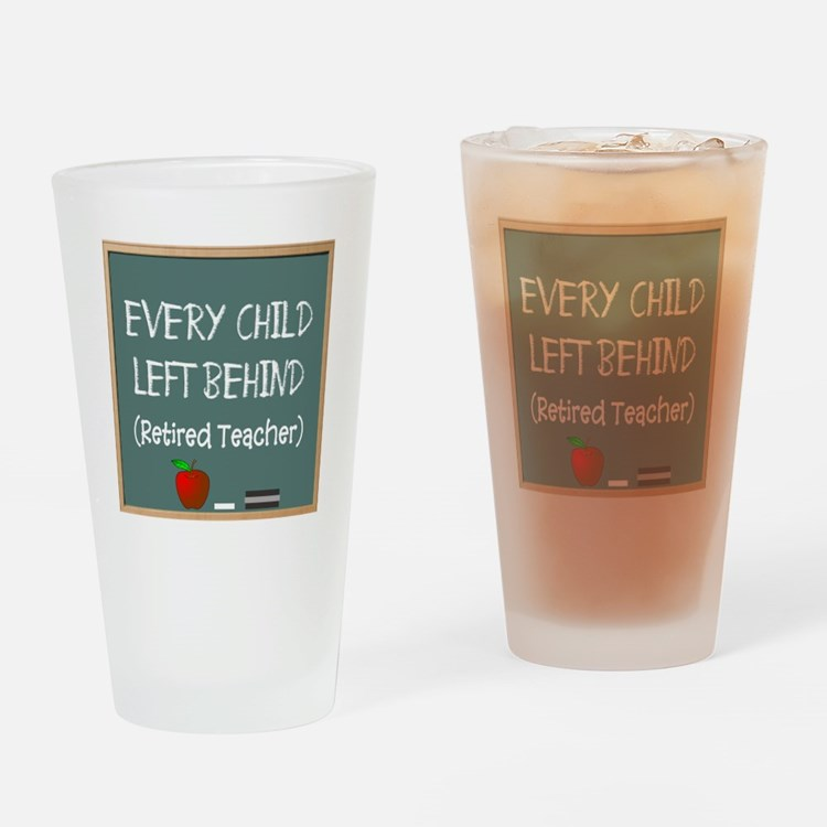 Cute Funny teacher retirement Drinking Glass