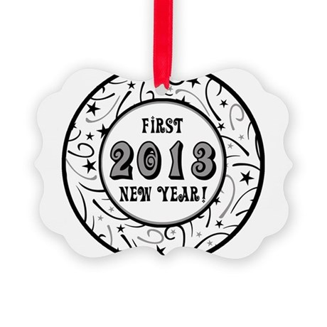 First New Years 2013 Milestone Picture Ornament