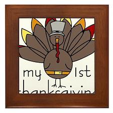 My 1st Thanksgiving Framed Tile