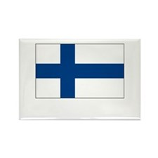 Finland Flag Picture Rectangle Magnet