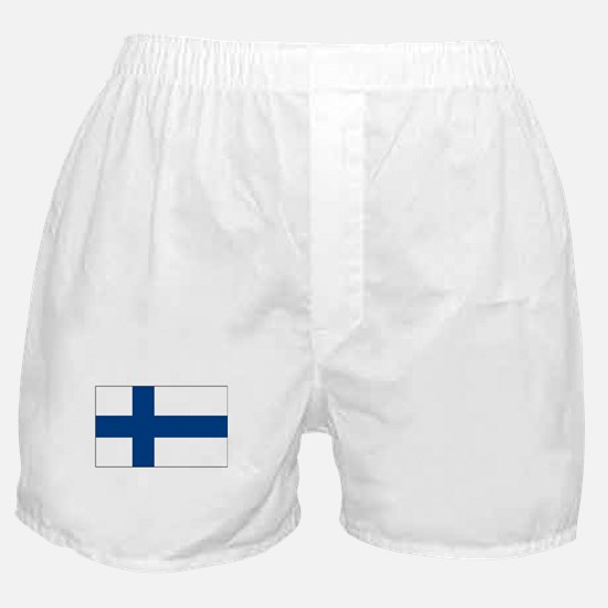 Finland Flag Picture Boxer Shorts