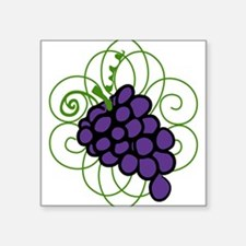 "Grapes Square Sticker 3"" x 3"""