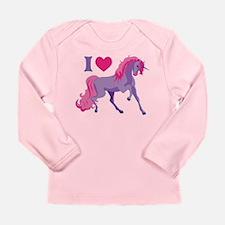 I Love Unicorns Long Sleeve Infant T-Shirt