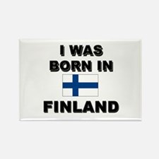 I Was Born In Finland Rectangle Magnet