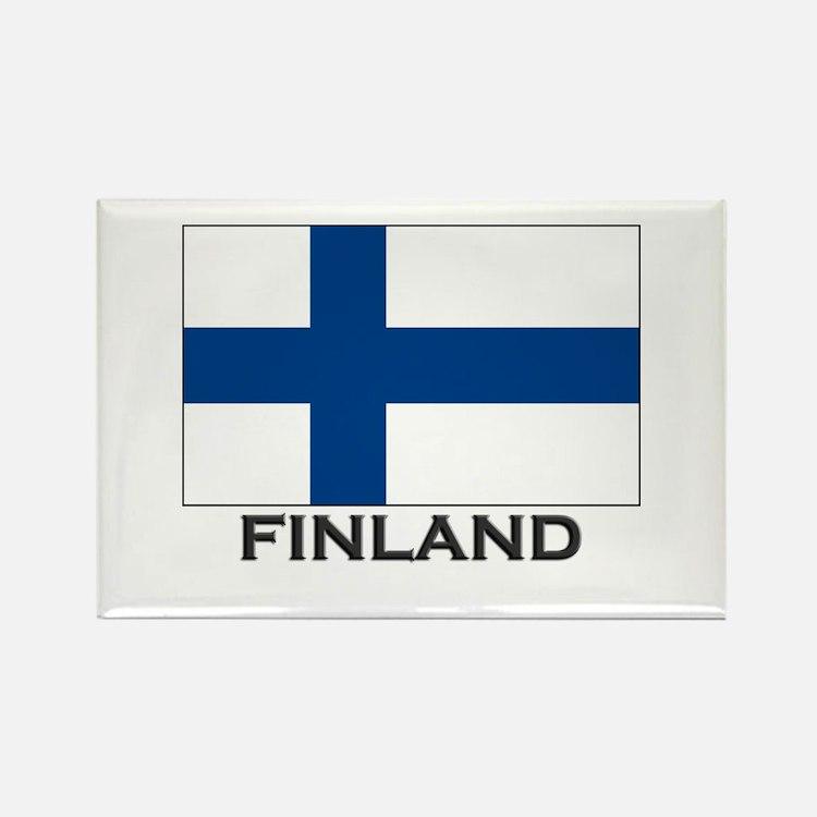 Finland Flag Stuff Rectangle Magnet