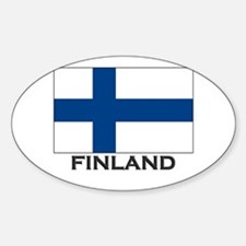 Finland Flag Stuff Oval Decal