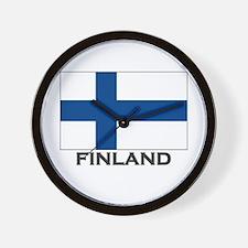Finland Flag Stuff Wall Clock