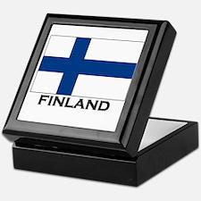 Finland Flag Stuff Keepsake Box