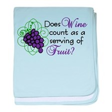 Does Wine Count baby blanket