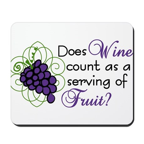 Does Wine Count Mousepad