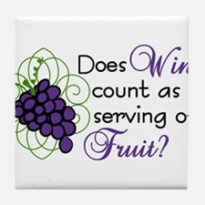 Does Wine Count Tile Coaster
