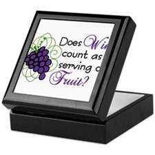Does Wine Count Keepsake Box