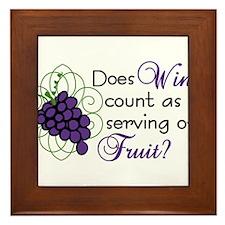 Does Wine Count Framed Tile