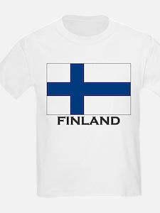 Finland Flag Stuff Kids T-Shirt